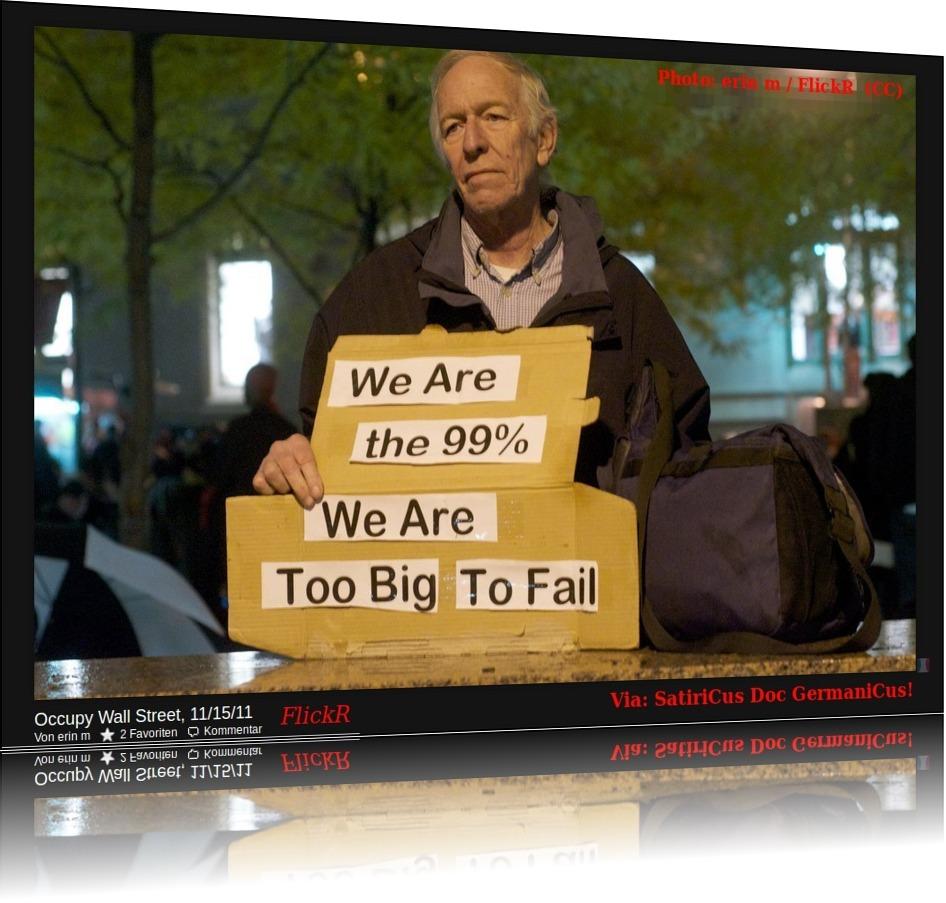 Occupy Wall Street by: erin m / FlickR - Demokratie Democrazy,