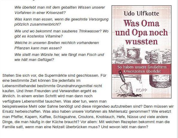 Udo Ulfkotte Was Oma und Opa noch wussten