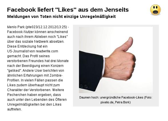 """Mysteriöse """"Likes"""" von Toten!"""