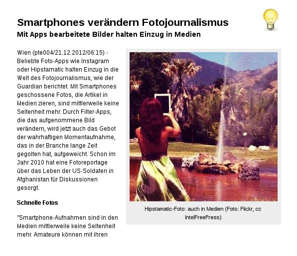 [ KLICK! } Smartphones verändern Fotojournalismus!