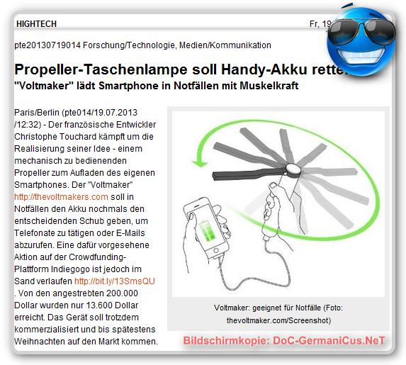 """""""Voltmaker"""": Das Windkraftwerk für die Hosentasche!"""