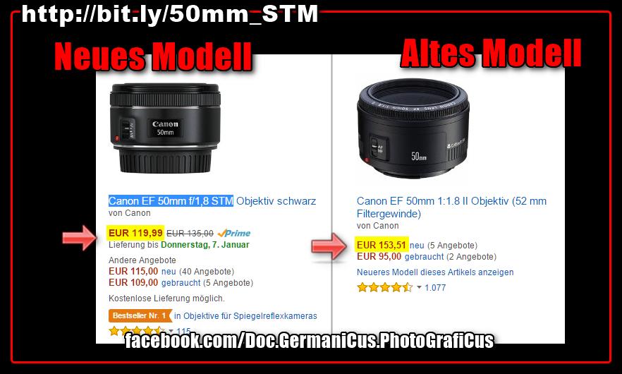 [ 'Nifty Fifty'! }  Unglaublicher PREISKRACHER: Canons neue 50mm/STM!