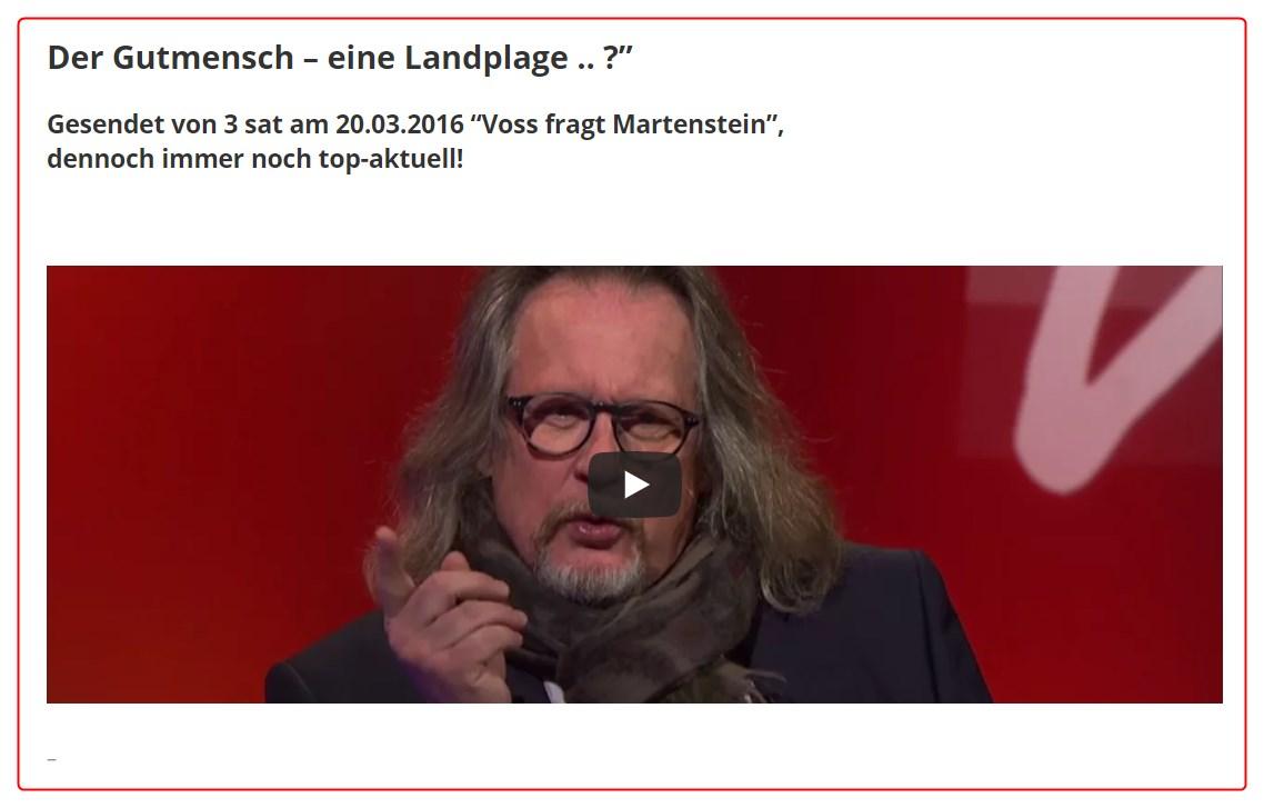 [ Martenstein! }  Über Gutmenschen, politische Korrektheit und andere seltsamen Dinge!